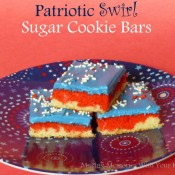 Patriotic Swirl Sugar Cookie Bars