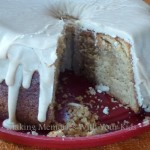 Brown Sugar Pound Cake with Caramel Frosting