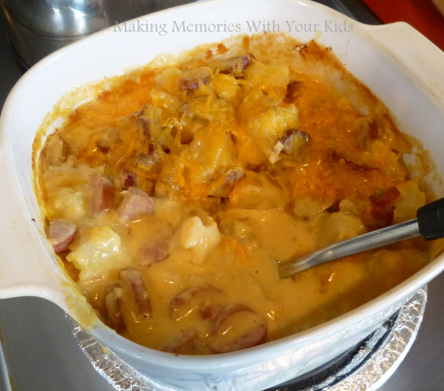 Cheese, Potato and Smoked Sausage Casserole