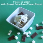 S'mores Ice Cream or Copycat Dairy Queen S'mores Blizzard