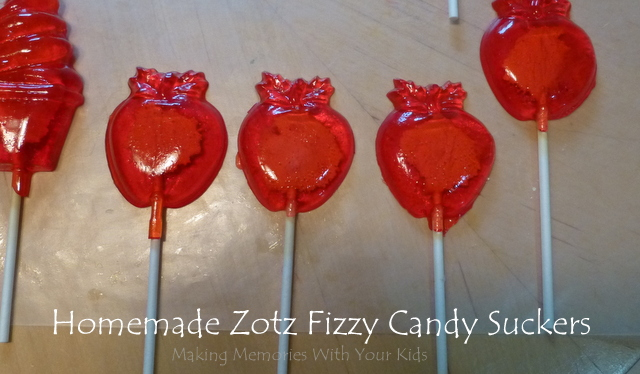 Homemade Zotz Fizzy Candy