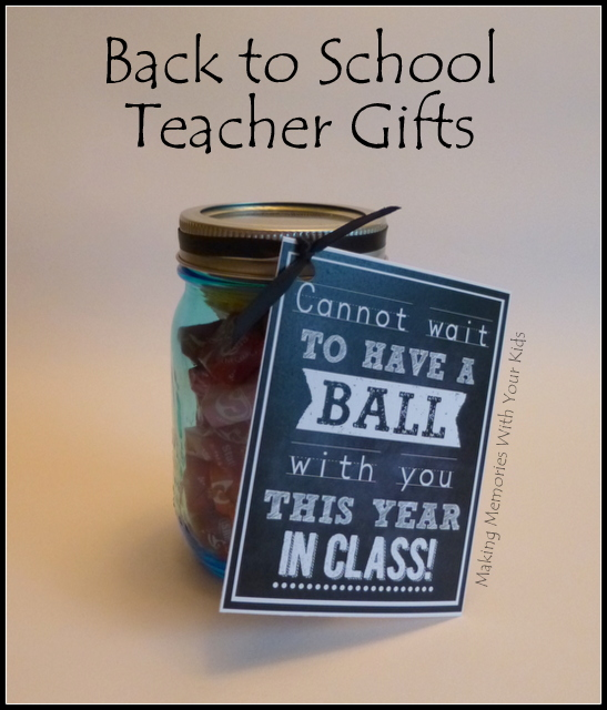 Back to School Teacher Gift with printable
