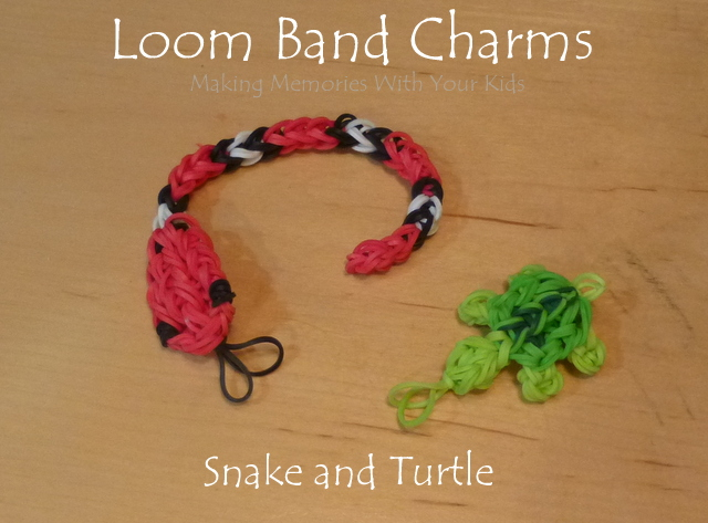 Loom Band Charms - Snake and Turtle