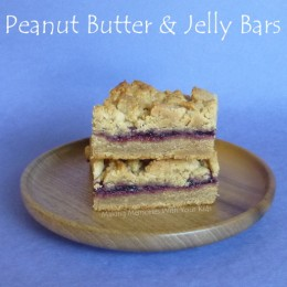 Peanut Butter & Jelly Cookie Bars {Secret Recipe Club}