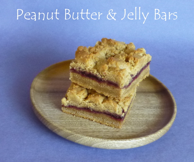 Peanut Butter & Jelly Cookie Bars