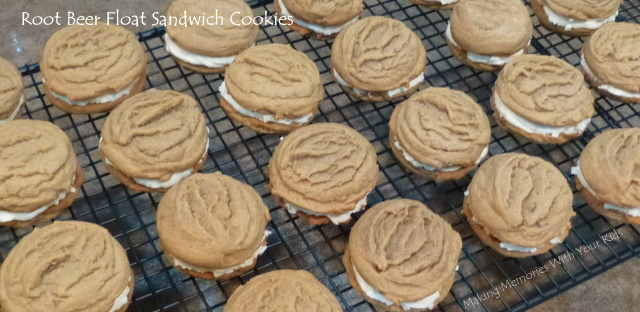 Root Beer Float Sandwich Cookies