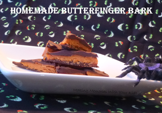 Homemade Butterfinger Bark