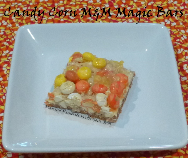 Candy Corn M&M Magic Bars