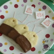Tea Bag Cookies - Milk Chocolate Dipped Shortbread Cookies