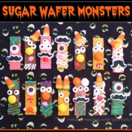 Halloween Cookies – Sugar Wafer Monsters
