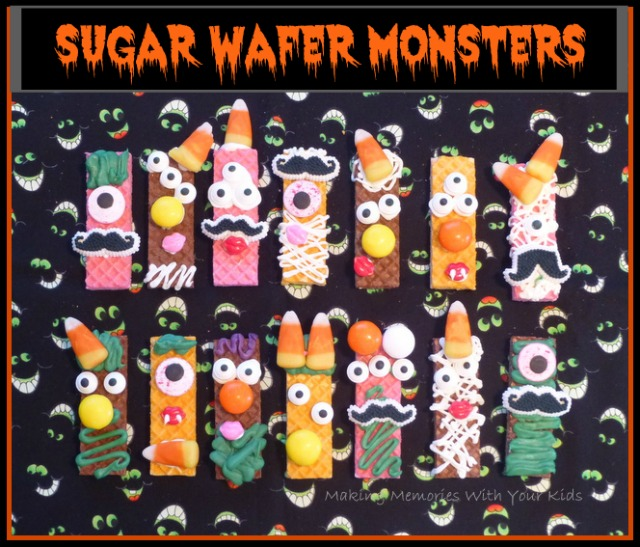 Sugar Wafer Monsters - Halloween Treats