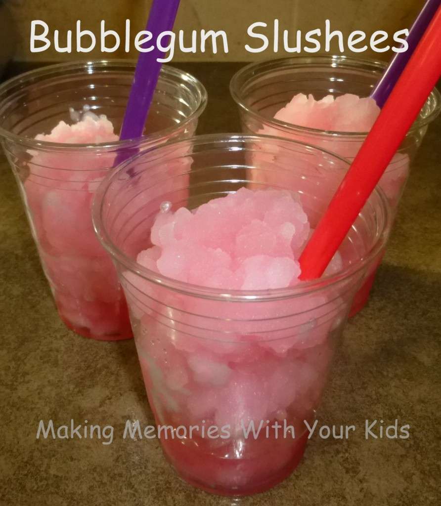 Homemade Bubblegum Slushees (Icee)