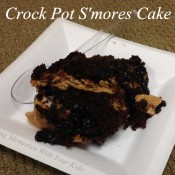 Crock Pot S'mores Cake - Slow Cooker