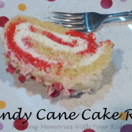 Candy Cane Cake Roll