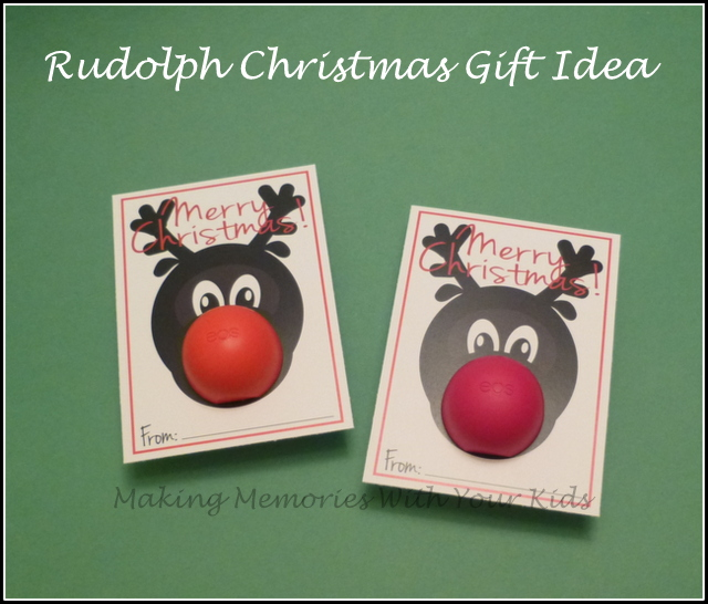 Fun Rudolph Christmas Gift Idea with Free Printable (Teacher Appreciation Gift)