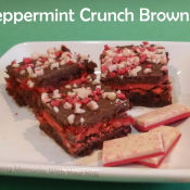 Peppermint Crunch Brownies with Andes Peppermint Crunch
