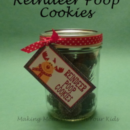 Reindeer Poop Cookies with Printable Tag