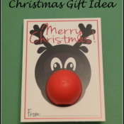 Rudolph Christmas Gift Idea with EOS Lip Balm - Free Printable