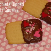 Chocolate Dipped Spritz Cookies for Valentine's Day
