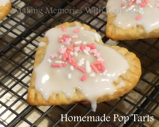 Homemade Raspberry Heart Shaped Pop Tarts for Valentine's Day