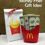 Money Fries Gift Idea