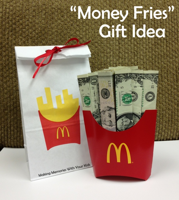 gift ideas for old family photos - Fun Money Gift Idea Making Memories With Your Kids