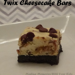 Twix Cheesecake Bars {Secret Recipe Club}