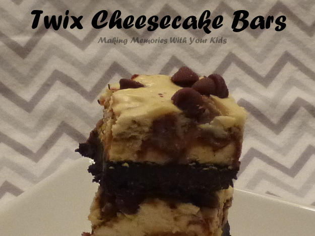 Twix Cheesecake Bars