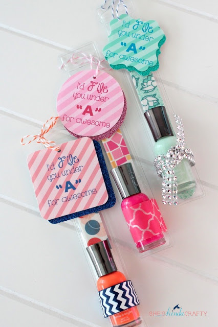 Fun Nail Polish Valentine Gift Idea with Free Printable
