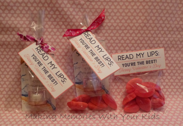 Read My Lips Valentine Gift Idea Making Memories With Your Kids