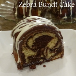 Zebra Bundt Cake {Secret Recipe Club}