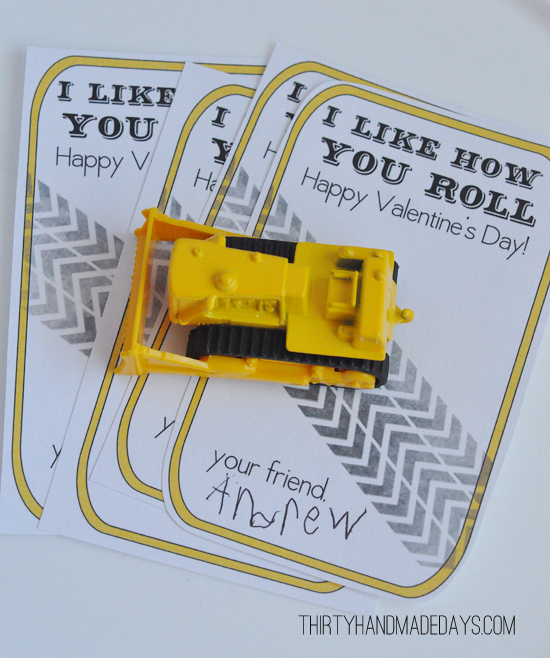 I Like How You Roll Valentine Gift Idea with Free Printable