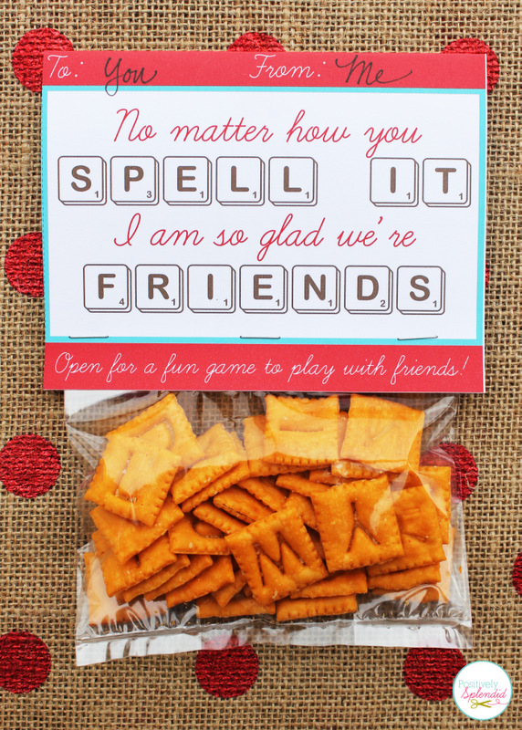 Scrabble Valentine Gift Idea with Free Printable