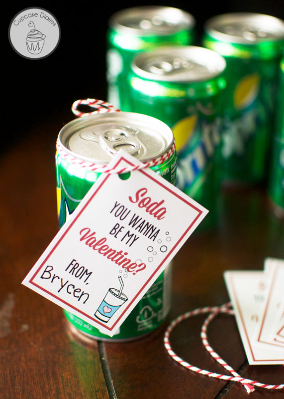 Soda Valentine Gift Idea with Free Printable