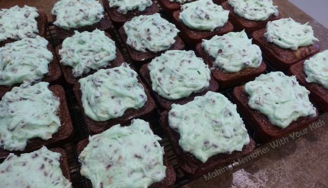 Andes Chocolate Chip Mint Brownies