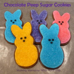 Chocolate Peep Sugar Cookies