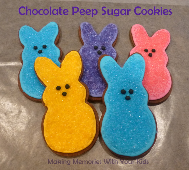 Chocolate Peep Sugar Cookies for Easter