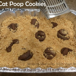 Cat Poop Cookies for April Fool's Day