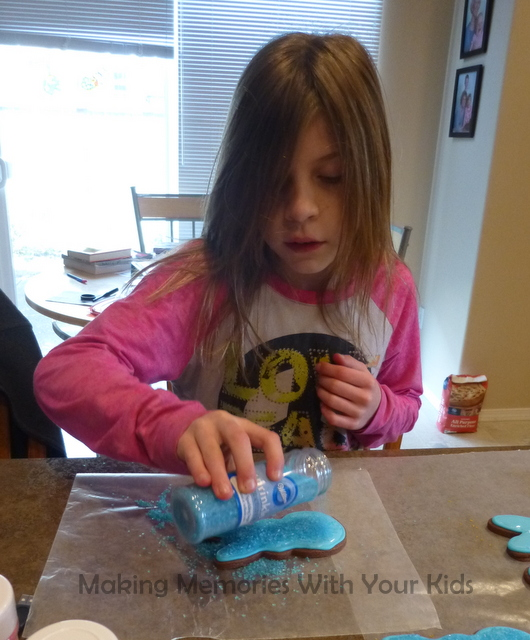 Making Chocolate Peep Sugar Cookies