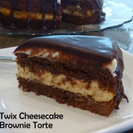 Twix Cheesecake Brownie Torte