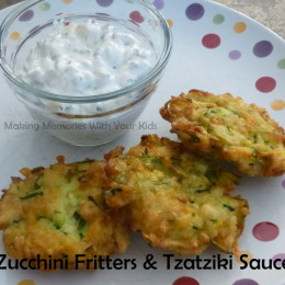 Zucchini Fritters and Tzatziki Sauce {Secret Recipe Club}