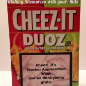 Cheezy Teacher Appreciation Gift Idea with Free Printable Tag