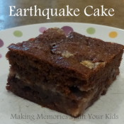 Earthquake Cake with CHocolate Chips and Toffee Bits