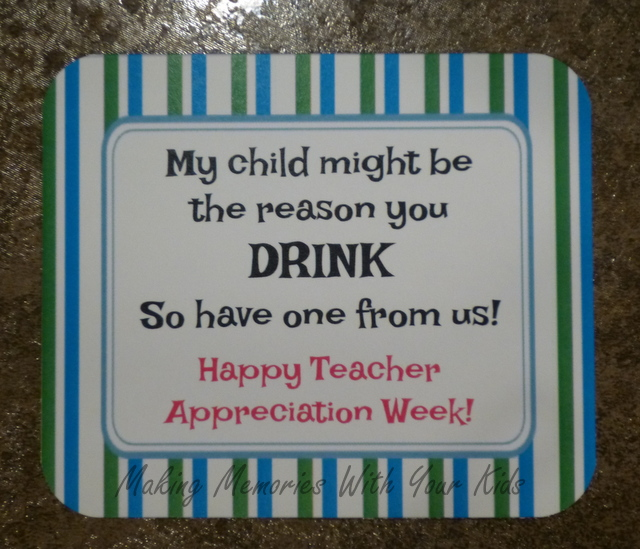 Jolly Rancher Vodka - Teacher Appreciation Gift with Free Printable