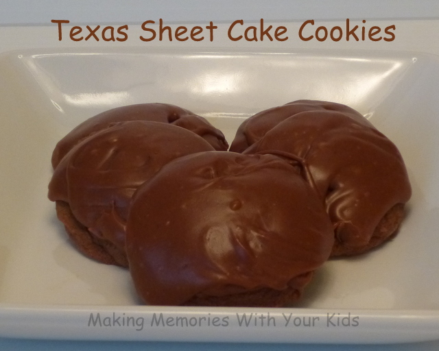 Texas Sheet Cake Cookies - Chewy and Chocolatey