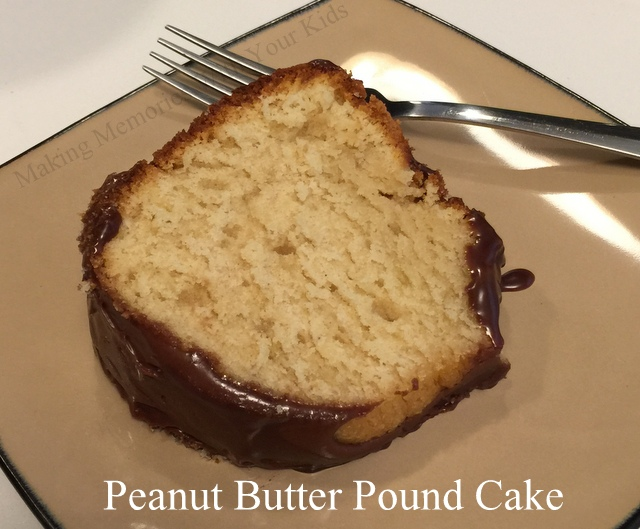 Chocolate Pound Cake With Peanut Butter Glaze Recipe — Dishmaps