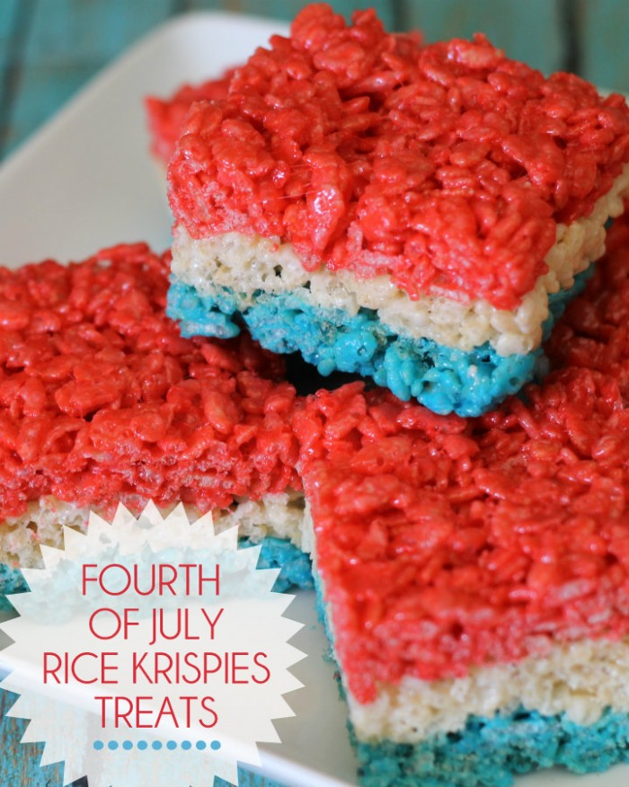 4th of July Rice Krispies treaks