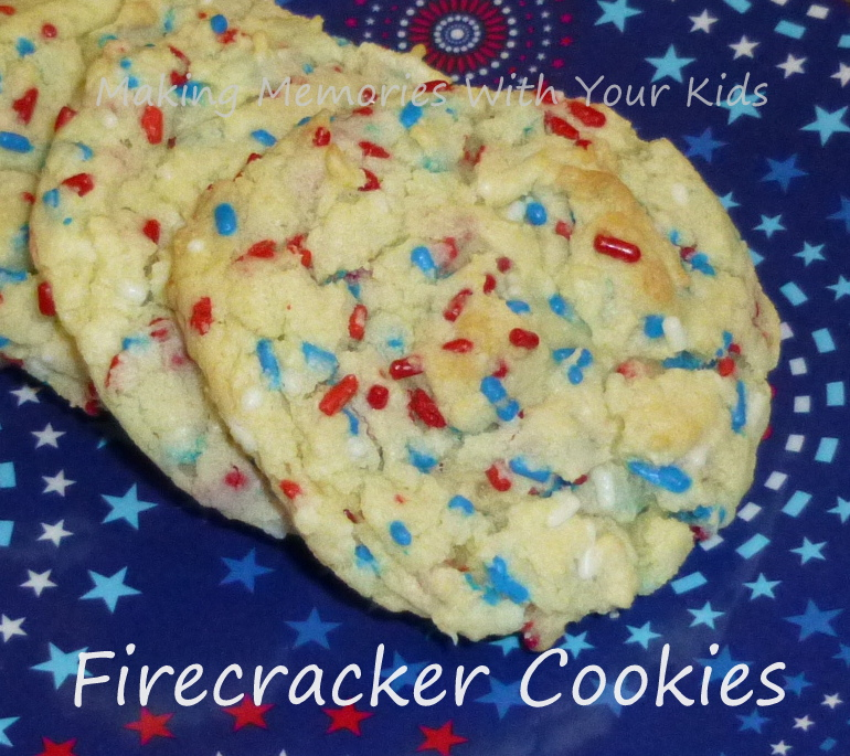 4th of July Firecracker Cookies