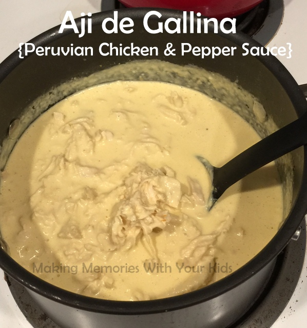 Aji de Gallina - Peruvian Food Chicken with Yellow Pepper Sauce