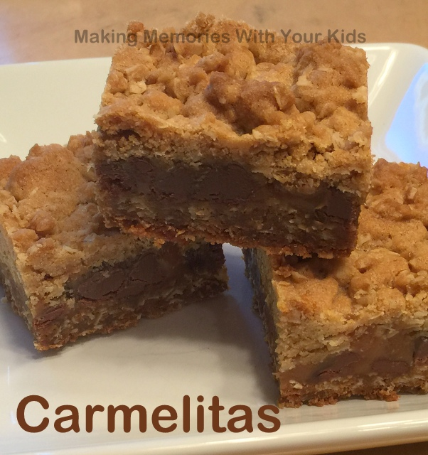 Chocolate- Oatmeal Carmelitas Recipe — Dishmaps